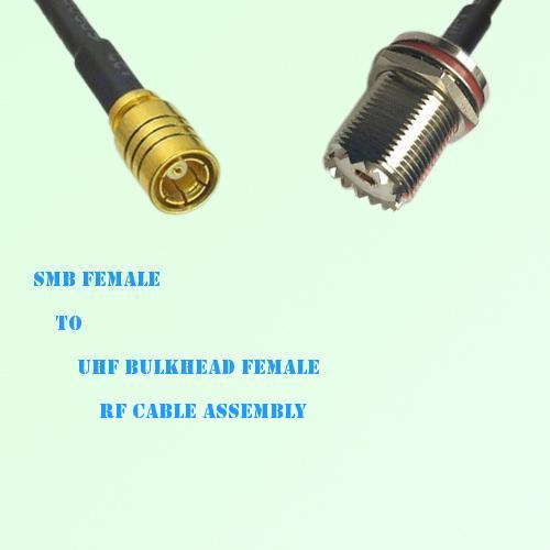SMB Female to UHF Bulkhead Female RF Cable Assembly