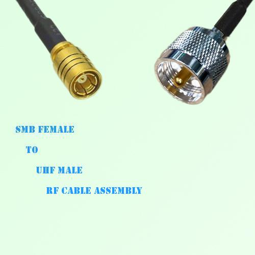 SMB Female to UHF Male RF Cable Assembly