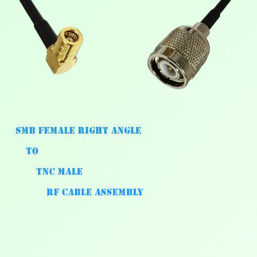 SMB Female Right Angle to TNC Male RF Cable Assembly