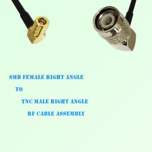 SMB Female Right Angle to TNC Male Right Angle RF Cable Assembly