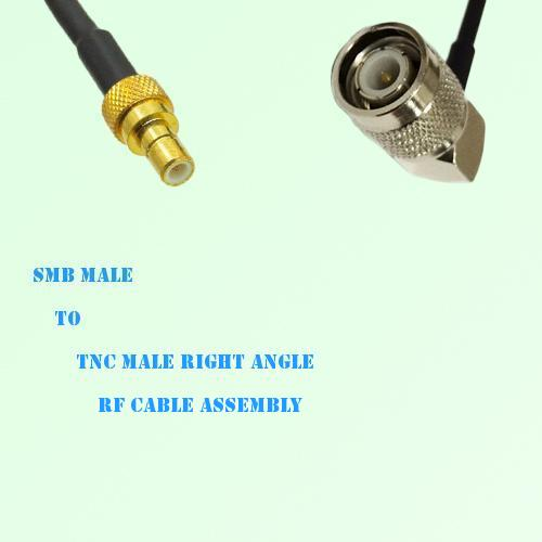 SMB Male to TNC Male Right Angle RF Cable Assembly