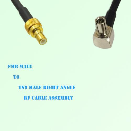 SMB Male to TS9 Male Right Angle RF Cable Assembly