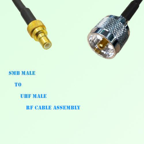 SMB Male to UHF Male RF Cable Assembly