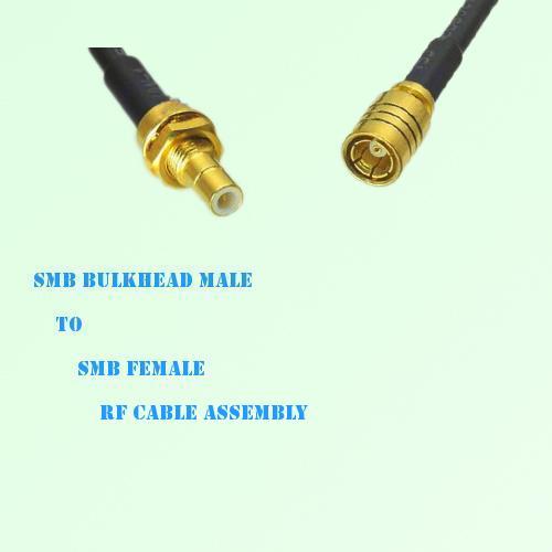 SMB Bulkhead Male to SMB Female RF Cable Assembly