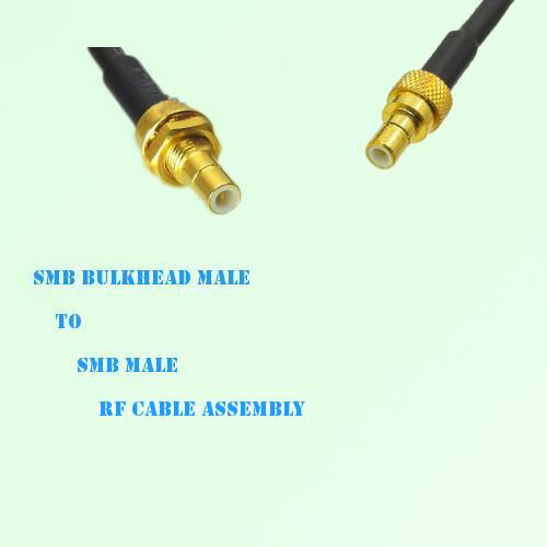 SMB Bulkhead Male to SMB Male RF Cable Assembly