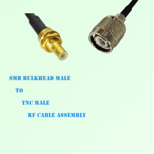 SMB Bulkhead Male to TNC Male RF Cable Assembly