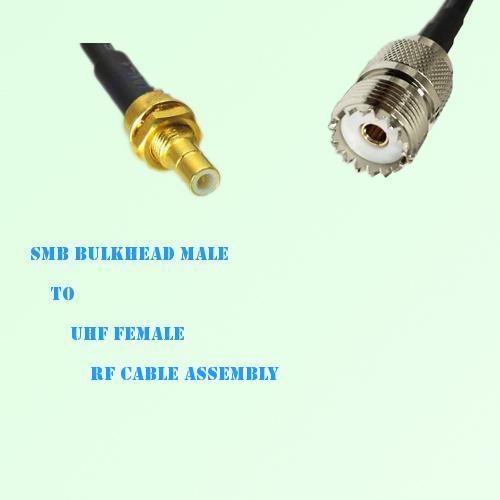 SMB Bulkhead Male to UHF Female RF Cable Assembly