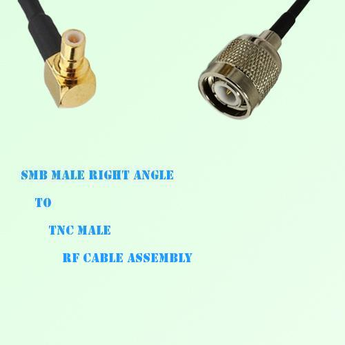 SMB Male Right Angle to TNC Male RF Cable Assembly