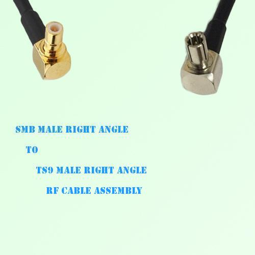 SMB Male Right Angle to TS9 Male Right Angle RF Cable Assembly