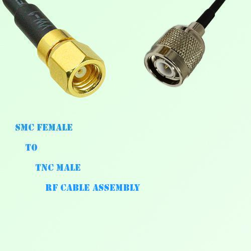 SMC Female to TNC Male RF Cable Assembly