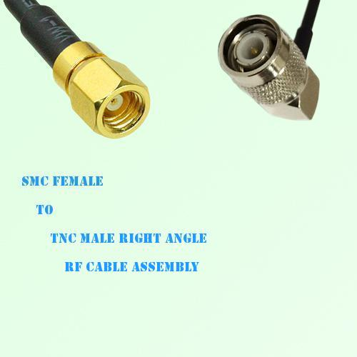 SMC Female to TNC Male Right Angle RF Cable Assembly
