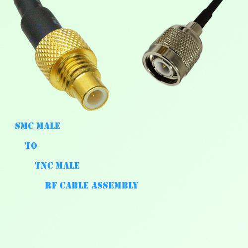 SMC Male to TNC Male RF Cable Assembly