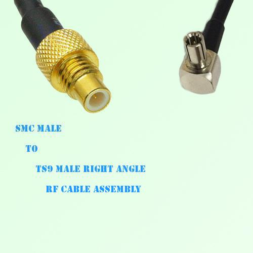 SMC Male to TS9 Male Right Angle RF Cable Assembly