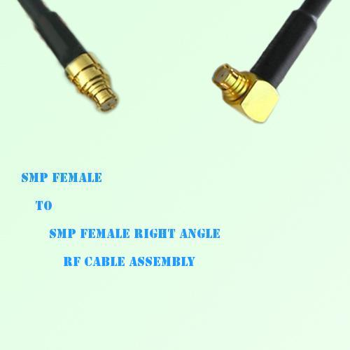 SMP Female to SMP Female Right Angle RF Cable Assembly