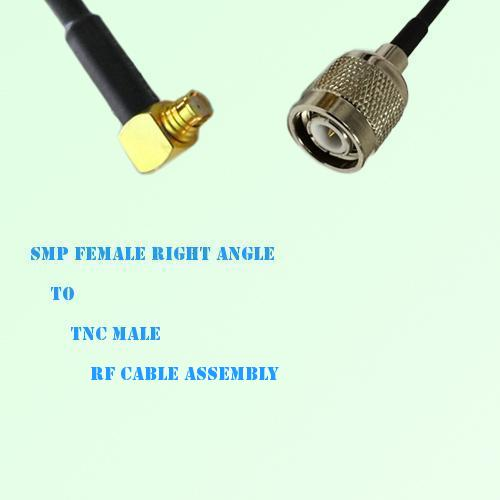 SMP Female Right Angle to TNC Male RF Cable Assembly