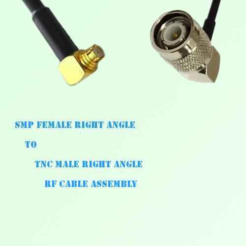 SMP Female Right Angle to TNC Male Right Angle RF Cable Assembly