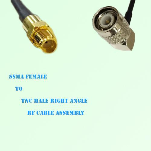 SSMA Female to TNC Male Right Angle RF Cable Assembly