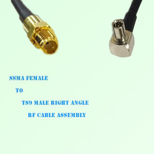 SSMA Female to TS9 Male Right Angle RF Cable Assembly