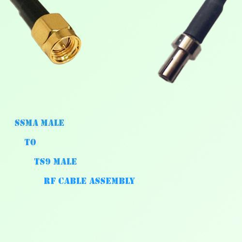 SSMA Male to TS9 Male RF Cable Assembly