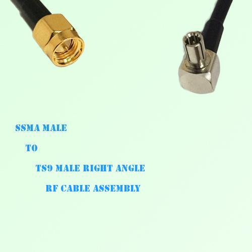 SSMA Male to TS9 Male Right Angle RF Cable Assembly