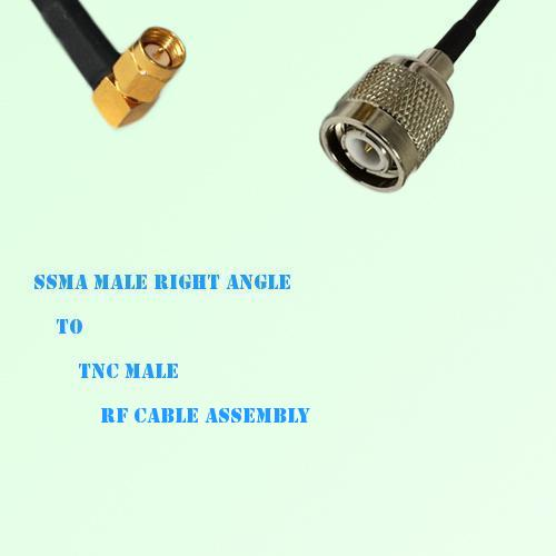 SSMA Male Right Angle to TNC Male RF Cable Assembly