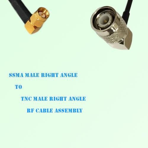 SSMA Male Right Angle to TNC Male Right Angle RF Cable Assembly
