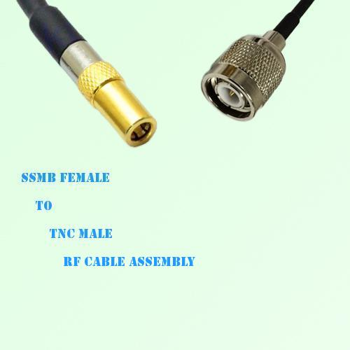 SSMB Female to TNC Male RF Cable Assembly