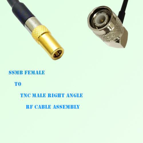 SSMB Female to TNC Male Right Angle RF Cable Assembly