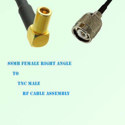 SSMB Female Right Angle to TNC Male RF Cable Assembly