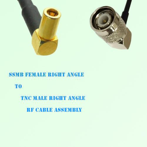 SSMB Female Right Angle to TNC Male Right Angle RF Cable Assembly