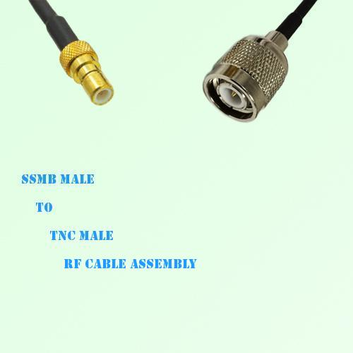 SSMB Male to TNC Male RF Cable Assembly
