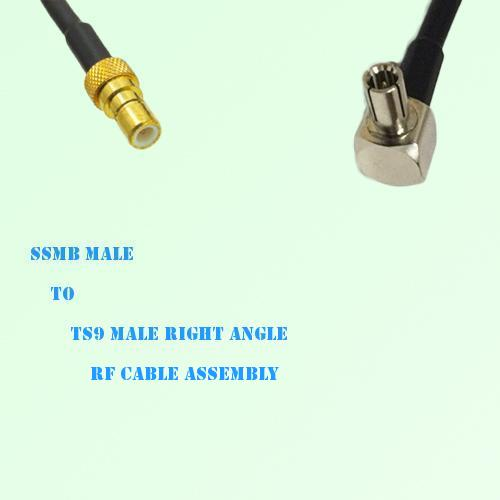 SSMB Male to TS9 Male Right Angle RF Cable Assembly