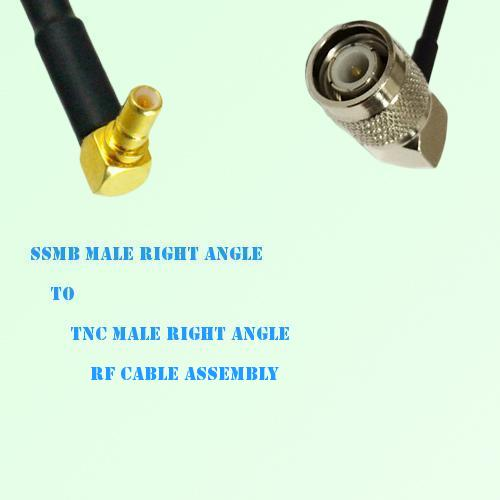 SSMB Male Right Angle to TNC Male Right Angle RF Cable Assembly