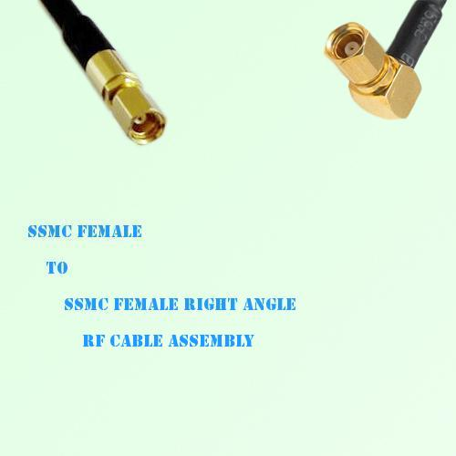 SSMC Female to SSMC Female Right Angle RF Cable Assembly