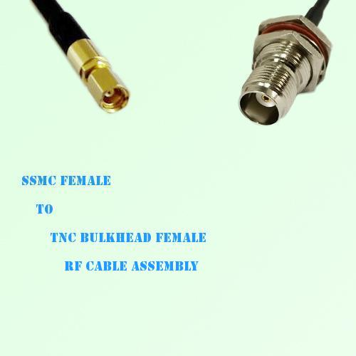 SSMC Female to TNC Bulkhead Female RF Cable Assembly