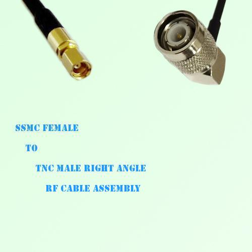 SSMC Female to TNC Male Right Angle RF Cable Assembly