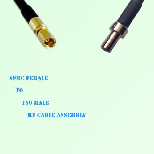 SSMC Female to TS9 Male RF Cable Assembly