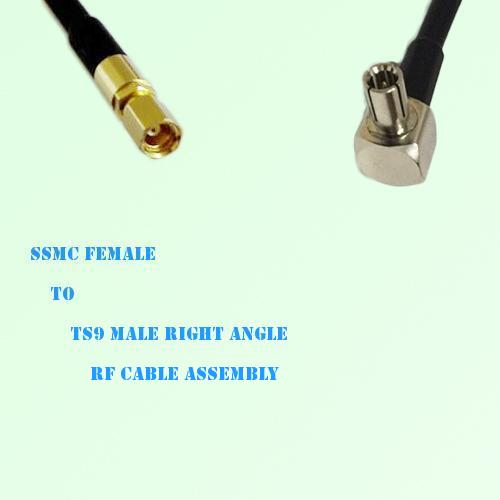 SSMC Female to TS9 Male Right Angle RF Cable Assembly