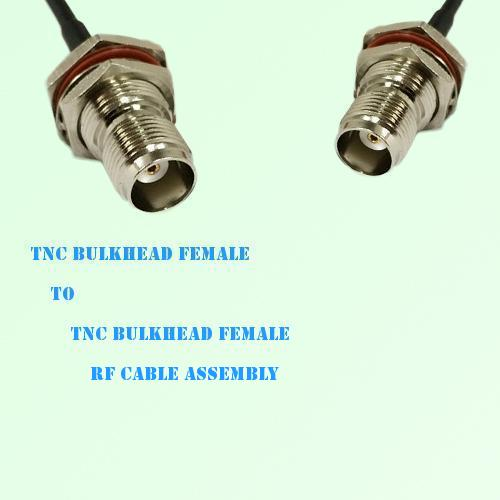 TNC Bulkhead Female to TNC Bulkhead Female RF Cable Assembly