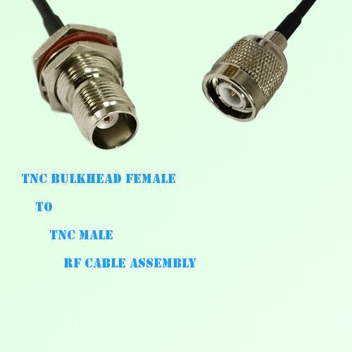 TNC Bulkhead Female to TNC Male RF Cable Assembly
