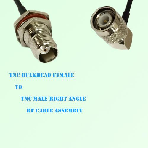 TNC Bulkhead Female to TNC Male Right Angle RF Cable Assembly