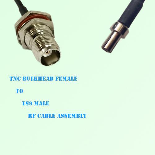 TNC Bulkhead Female to TS9 Male RF Cable Assembly