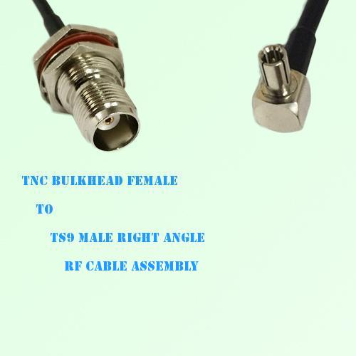TNC Bulkhead Female to TS9 Male Right Angle RF Cable Assembly