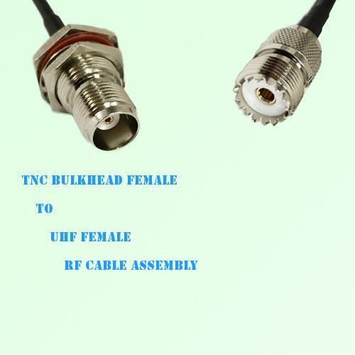 TNC Bulkhead Female to UHF Female RF Cable Assembly