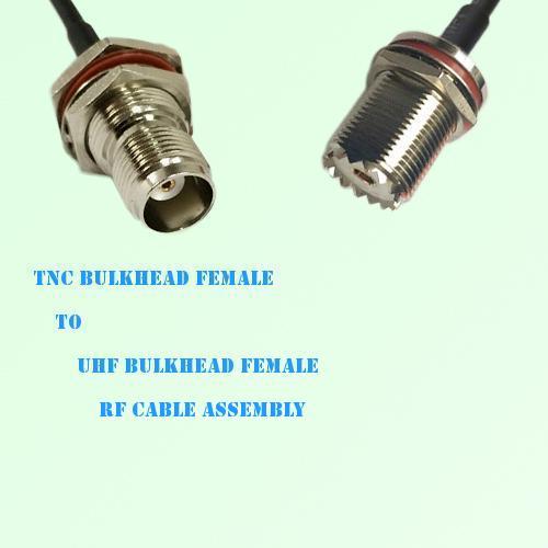 TNC Bulkhead Female to UHF Bulkhead Female RF Cable Assembly