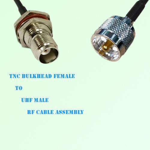 TNC Bulkhead Female to UHF Male RF Cable Assembly