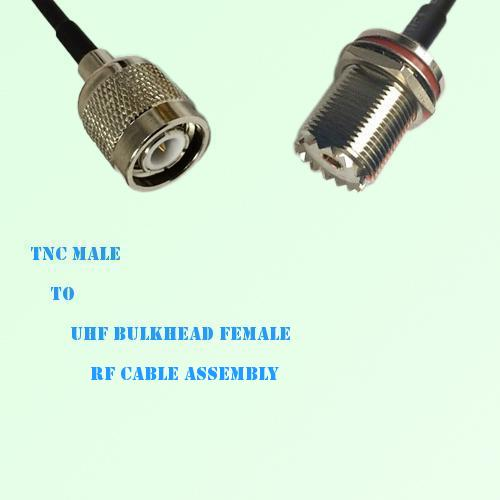 TNC Male to UHF Bulkhead Female RF Cable Assembly