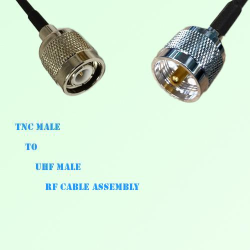 TNC Male to UHF Male RF Cable Assembly