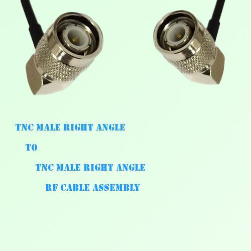 TNC Male Right Angle to TNC Male Right Angle RF Cable Assembly