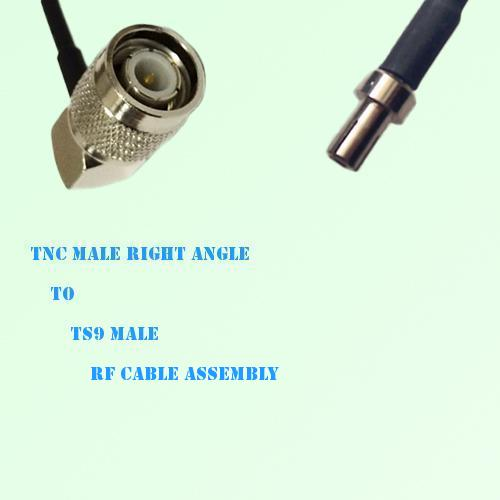 TNC Male Right Angle to TS9 Male RF Cable Assembly